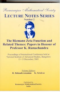 Number 2 The Riemann Zeta Function and Related Themes: Papers in Honour of Professor K.Ramachandra