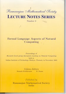 Number 3 Formal Language Aspects of Natural Computing
